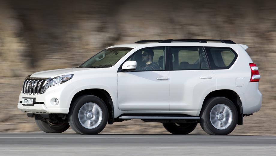 Toyota land cruiser prado. Нынешний Prado с результатом 14 516 экземпляров в 2016 году стал лидером сегмента. Цена — от 1 997 000 рублей.
