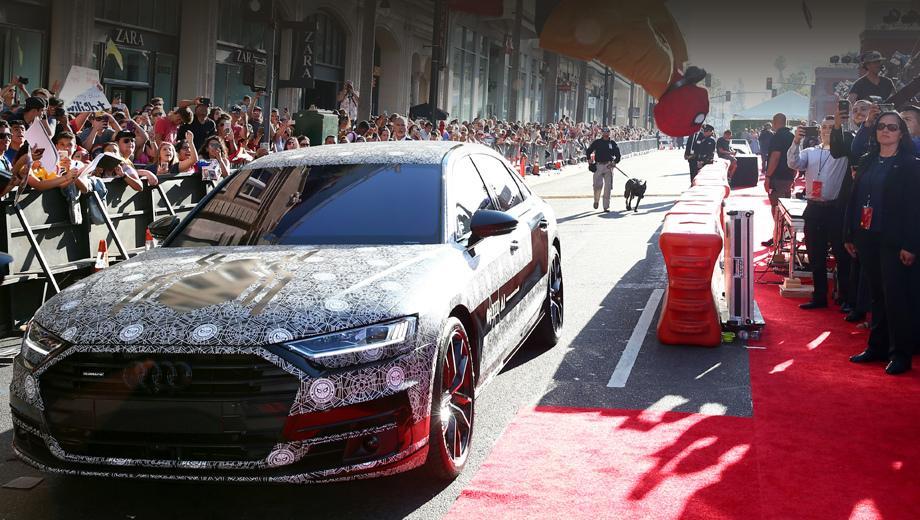 Audi a8. Помимо замаскированных прототипов образ «а-восьмой» уже более-менее можно восстановить по фото- и видеотизерам (смотрите наш «Бонус»). На снимках и в роликах уже мелькают части салона, оптика, боковины...