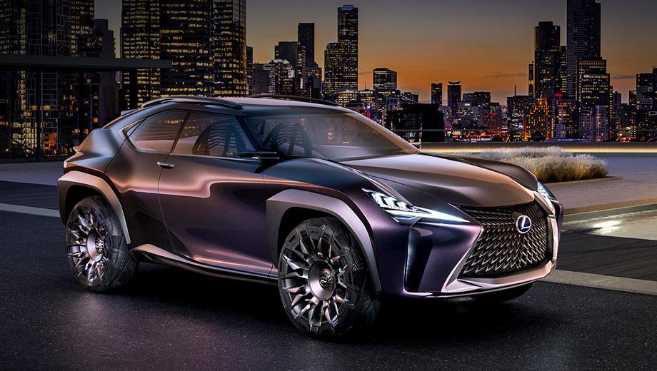 Lexus ux,Lexus rx. Концепт UX увидел свет в 2016 году на выставке в Париже. Самому маленькому кроссоверу марки (колёсная база — 2640 мм, длина — 4400) и родному брату Тойоты C-HR на пути к конвейеру придётся изрядно упроститься.