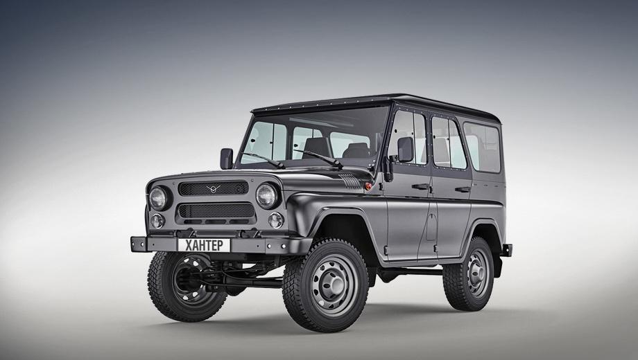Uaz hunter. Хантеры предлагаются с бензиновым мотором 2.7 (128 л.с., 210 Н•м), пятиступенчатой «механикой» и подключаемым полным приводом по цене от 619 000 рублей. В 2016 году продана 3591 машина.