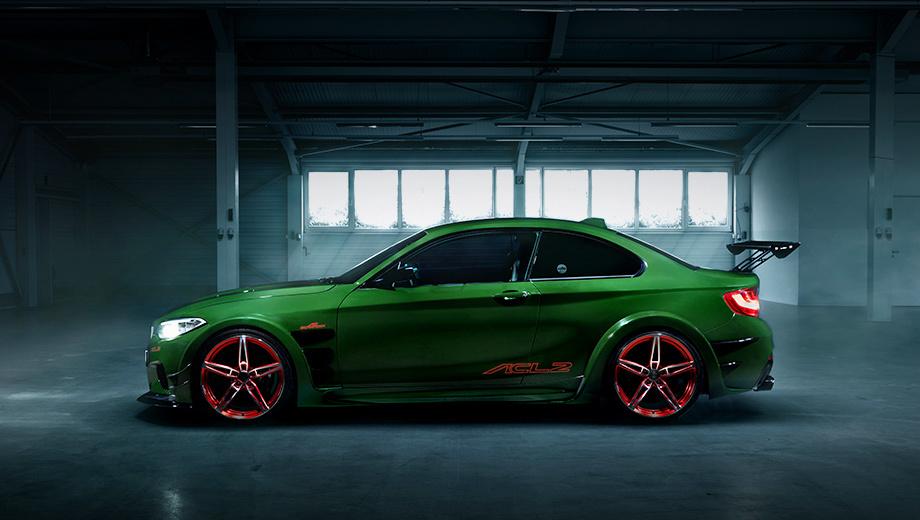Bmw 2. Концепт, построенный на основе купе BMW M235i, был показан весной прошлого года в Женеве. Тогда тюнеры заявили, что по соотношению снаряжённой массы к мощности (2,59 кг/л.с.) их детище конкурирует с Ferrari 458 Italia и Porsche 911 GT3 RS.