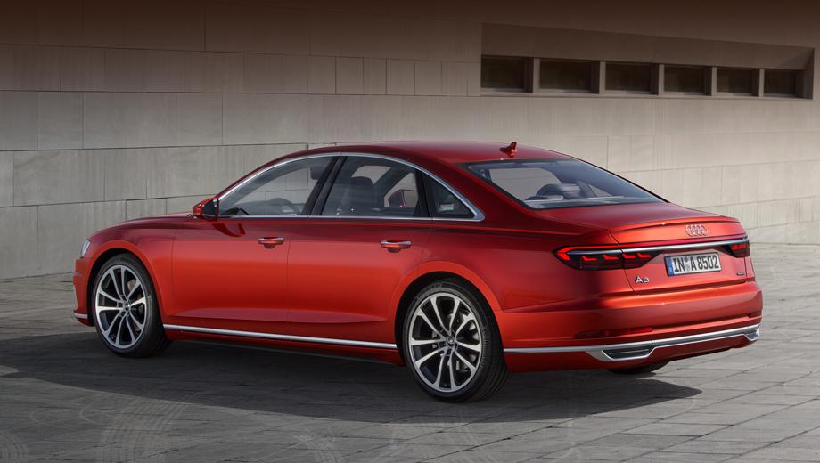 Audi a8,Audi s8. Убрать на этой «а-восьмой» хром на порогах, поставить круглые выхлопные патрубки, не забыть про передний бампер с более крупными воздухозаборниками и новые диски — и вот уже перед нами S8.