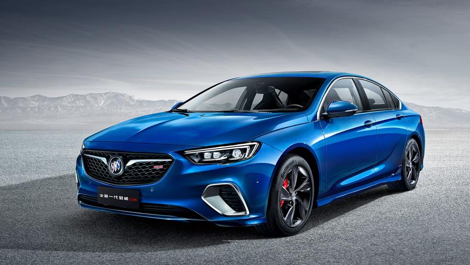 Buick regal,Buick regal rs. Четырёхдверный Buick Regal GS оснащается менее податливыми пружинами и адаптивными амортизаторами, а также мощной тормозной системой Brembo с четырёхпоршневыми суппортами на передней оси.