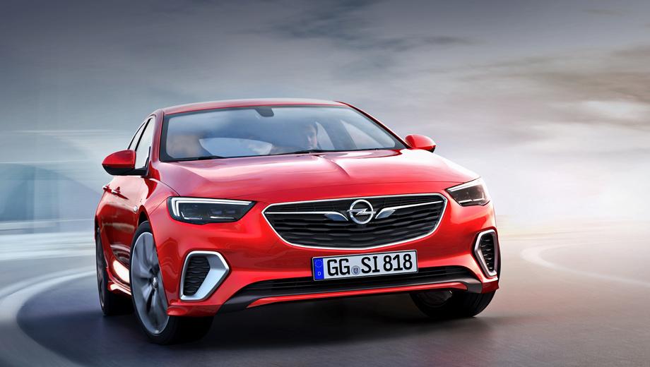 Opel insignia,Opel insignia gsi. Спереди Инсигнию GSi можно узнать по обрамлённым хромом крупным воздухозаборникам и сплиттеру. Сзади красуются «прямоугольные» патрубки, отличительный бампер, имитация диффузора и три буквы справа на крышке багажника.
