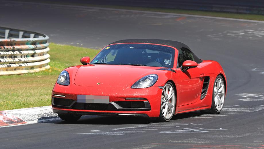 Porsche boxster,Porsche boxster gts. Спереди 2018 Porsche Boxster GTS выдаёт новый бампер.