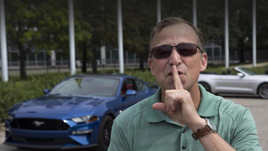 Ford mustang. Идея новой опции пришла в голову инженеру Форда Стиву фон Фёрстеру (на фото), когда он рано утром завёл свой Shelby GT350 Mustang, а недовольный звуком сосед позвонил в 911.