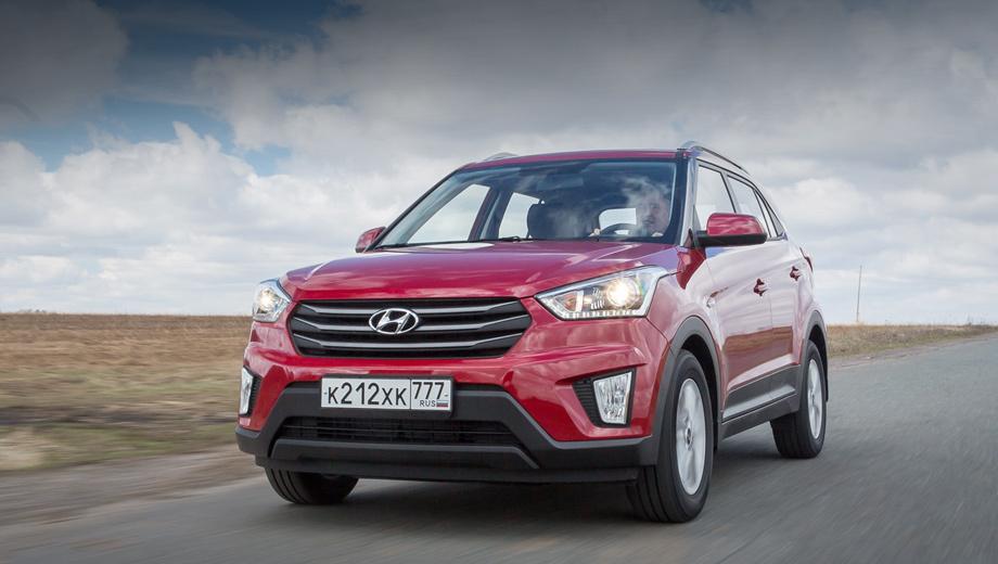 Hyundai creta. Creta присутствует на российском рынке ровно год. По итогам продаж за первые шесть месяцев 2017-го паркетник занял пятое место в рейтинге самых популярных легковушек — реализовано 24 143 штуки.