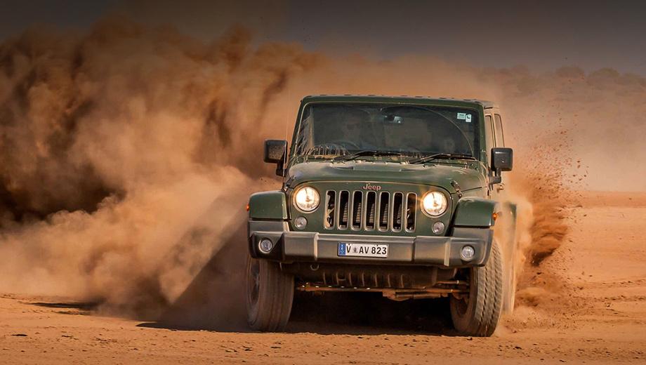 Jeep wrangler. Выпускающийся уже больше 10 лет Jeep Wrangler JK уйдёт с конвейера предприятия в американском Толедо лишь в марте 2018 года. В Соединённых Штатах (как и в Канаде) модель продаётся только с двигателем V6 3.6 (284 л.с., 353 Н•м). Цены в США ― от $23 995 до $42 945.