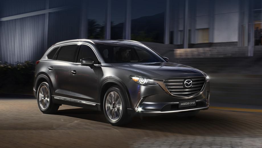 Mazda cx-9. Крупный (5056 мм в длину) автомобиль может привлечь клиентов семиместным салоном и продуманной его трансформацией.