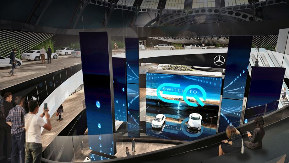 Mercedes frankfurt2017?  eq,Mercedes project one. Очевидно, перед нами компьютерный рендер. Mercedes-Benz выставит на стенде во Франкфурте около сотни автомобилей. Среди них будут обновлённый S-класс, пикап X-Class, водородный GLC F-Cell. Рядом примостится новый шоу-кар от марки Smart.