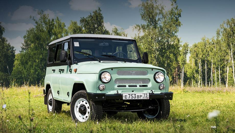 Uaz hunter. Юбилейное издание окрашено в три цвета: серо-зелёный основной оттенок, матово-чёрная середина и глянцевый белый колер на крыше, сочетающийся с белыми колёсными дисками.