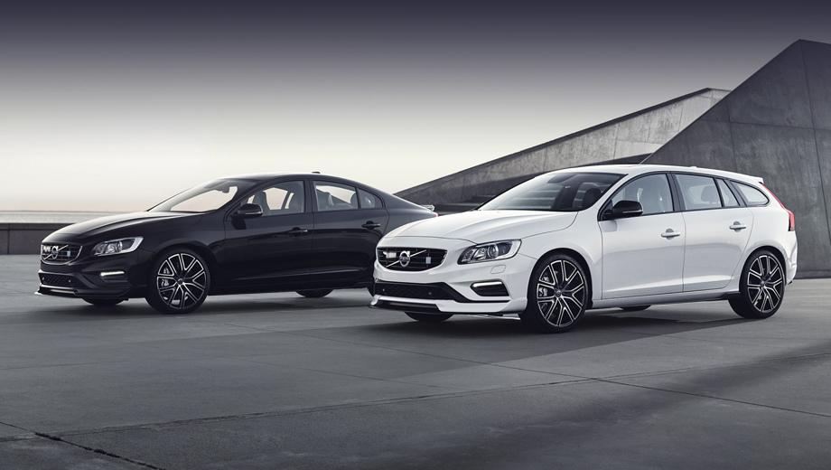Volvo s60,Volvo v60. Среди свежих доработок — глянцево-чёрные с чистым металлом колёсные диски Polestar, корпуса зеркал из углепластика и новый опциональный цвет Bursting Blue Metallic.