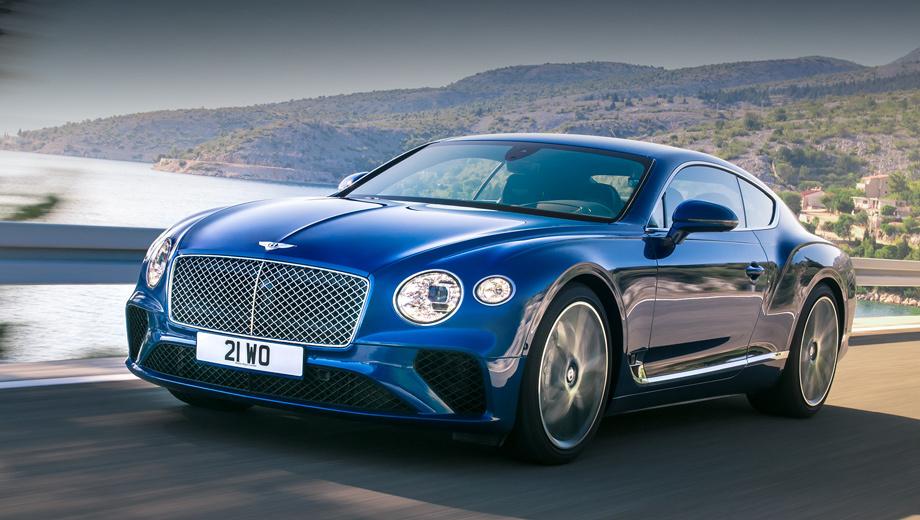Bentley continental gt. Англичане уверяют, что, несмотря на тесное сотрудничество с Porsche, 82% деталей у их купе уникальны. Фары ― светодиодные матричные.
