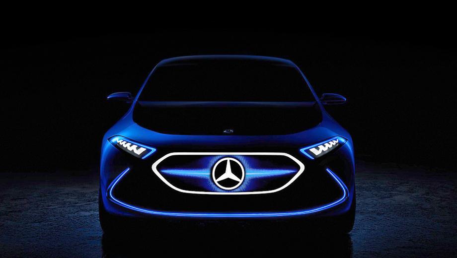 Mercedes eq,Mercedes project one,Mercedes g. Хэтчбек EQ A не очень-то похож на шоу-кар Generation EQ, хотя они члены одной семьи. Внешне пятидверка больше напоминает концепт Mercedes G-Code. Электромобиль выглядит вполне готовым к серийному производству.