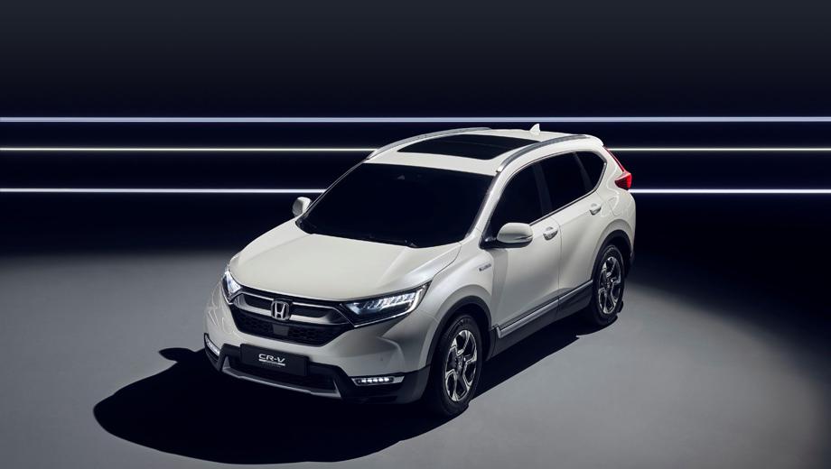 Honda cr-v,Honda concept. От первоначально представленного «американца» «европеец» CR-V отличается мелкими деталями, в частности противотуманками.