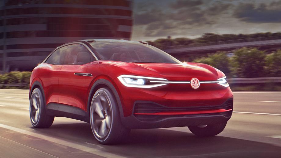 Volkswagen id crozz. Доработанный прототип, окрашенный в новый цвет Hibiscus Red Metallic, немцы поначалу хотели назвать I.D. Crozz II, но потом отказались от этой затеи.