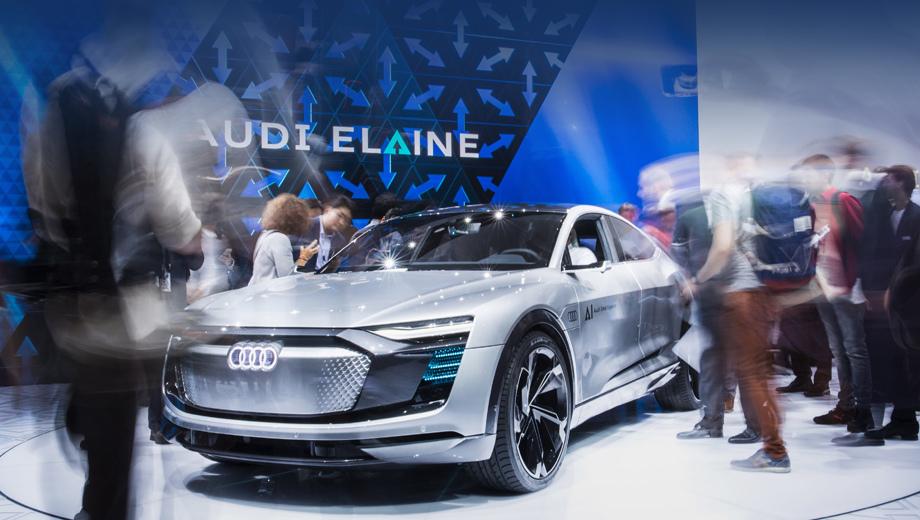 Audi elaine,Audi concept. В написании слова Elaine компания применила стилизованную букву A со стрелкой. Таков и шрифт у бренда AI (Audi Intelligence), под которым Ингольштадт будет выпускать автопилот и ряд помощников водителя.