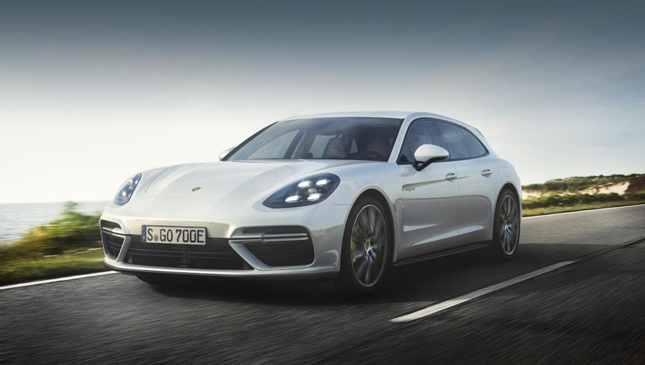 Porsche panamera. Новая версия совмещает все плюсы кузова универсал и самую мощную среди Панамер гибридную систему привода.
