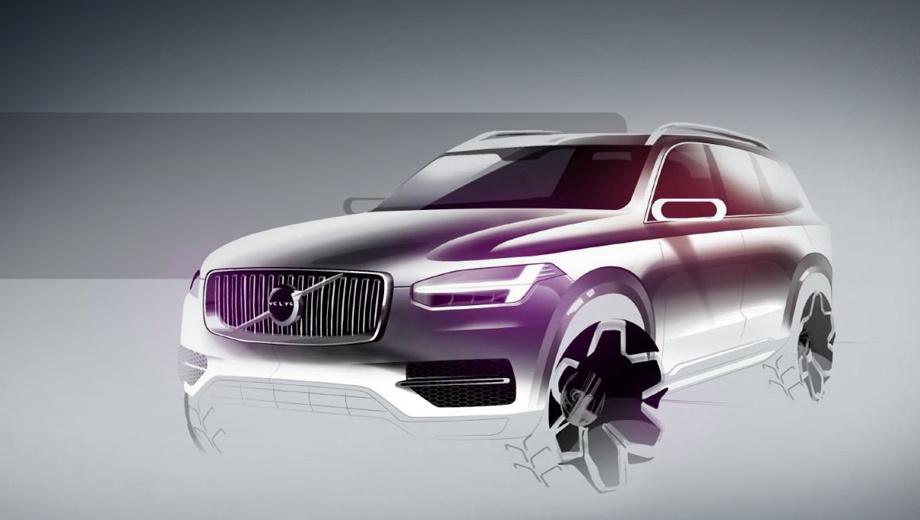 Volvo xc90. Никаких изображений «третьего» XC90 сейчас, понятное дело, нет. На скетче — «второй». Он сыграл важную роль в росте продаж Volvo в Соединённых Штатах: с 56 000 машин, реализованных в 2014 году, до почти 83 000 единиц в 2016-м.