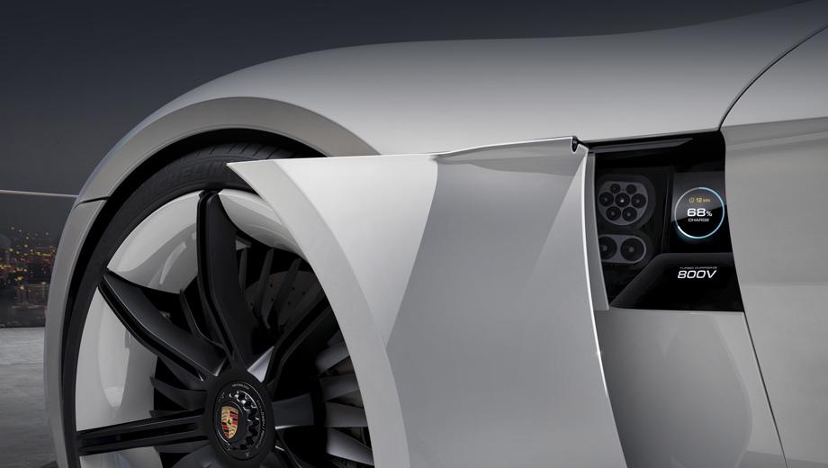 Porsche mission e,Porsche cayman,Porsche cayman e-volution. В серийном виде высокоскоростная зарядка появится в конце 2019-го на электрическом спорткаре Porsche Mission E, который предвещал одноимённый концепт.