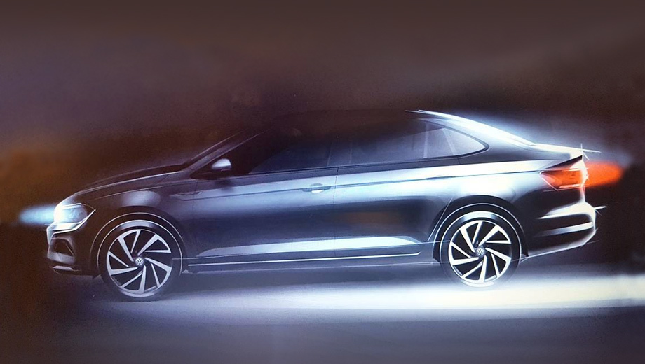Опубликовано изображение нового Volkswagen Polo седан