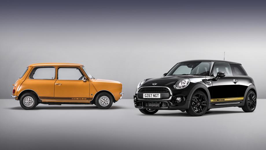 Mini one,Mini hatch,Mini 1499 gt,Mini cooper s works 210,Mini cooper s,Mini cabrio. Британцы не первый раз обращаются к истории, создавая лимитированные серии машин. Можно вспомнить прошлогодний Mini Seven.