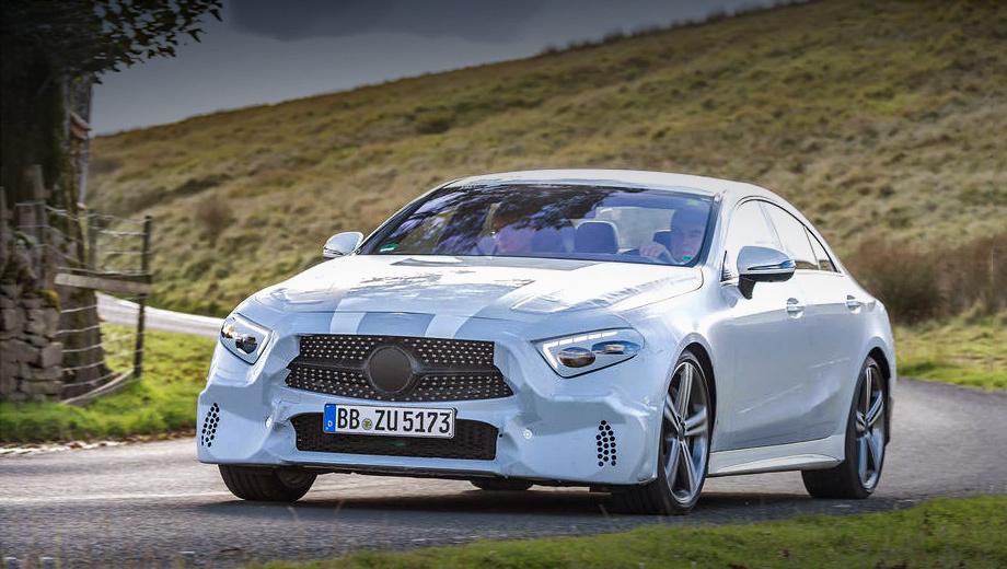 Mercedes cls. По слухам, в новой конструкции кузова инженеры увеличили долю алюминия, хотя стали по-прежнему больше. Из «крылатого металла» выполнены капот, передние крылья, двери, крышка багажника, опоры подвески. Полный привод ― постоянный с несимметричным межосевым дифференциалом и распределением момента в соотношении 45% на 55 в пользу задней оси.