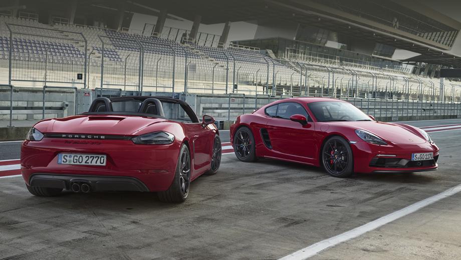 Porsche cayman,Porsche cayman gts,Porsche boxster,Porsche boxster gts. По сравнению с исходными моделями на вариантах GTS установлен бампер из пакета Sport Design (такой же доступен обычным Бокстерам и Кайманам за доплату).