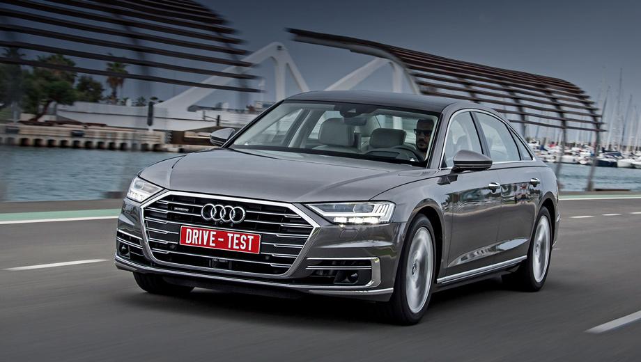 Audi a8. Российских цен ещё нет. В Германии базовая A8 подорожала на 6600 евро. Вопрос — будет ли налажена крупноузловая сборка в Калуге, как это было до конца 2016 года. Напомню, BMW седьмой серии подсобирают в Калининграде, а Mercedes S-класса импортируется.