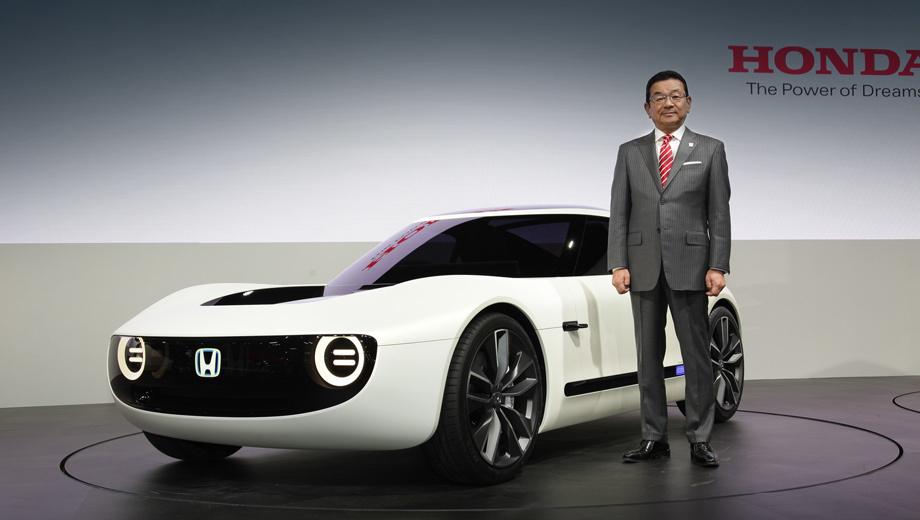 Honda concept,Honda sports ev,Honda robocas. Президент Хонды Такахиро Хатиго намерен вернуть фирме ореол технической исключительности, несколько поблекший в последнее время. Электромобили в этом плане представляются ему одним из важных средств.