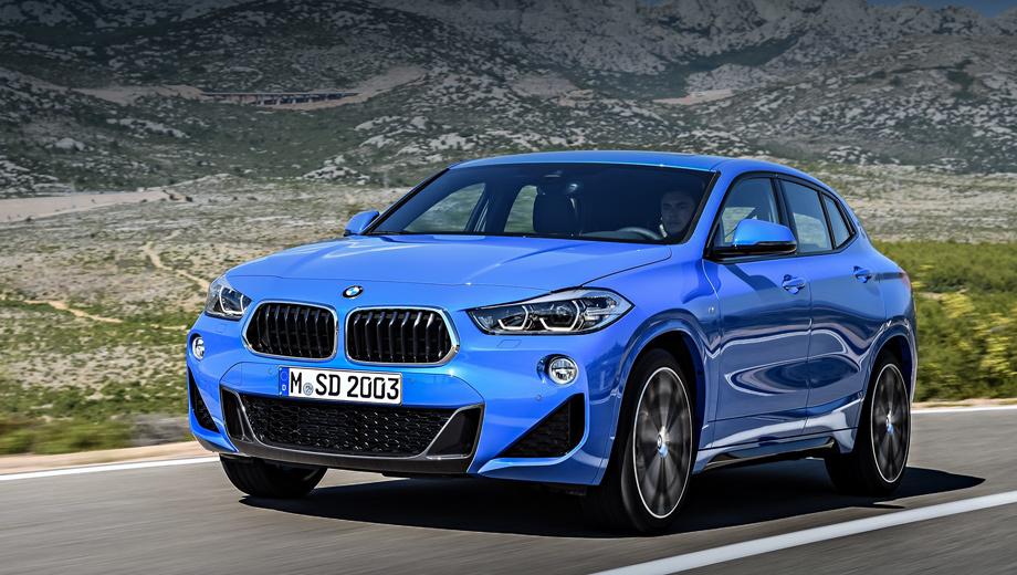 Bmw x2. Модель BMW X2 sDrive20i (масса без водителя ― 1460 кг) разгоняется до 100 км/ч за 7,7 с при максимальной скорости 227 км/ч. Версии xDrive20d (1600 кг) и xDrive25d (1585 кг) достигают сотни за 7,7 и 6,7 с соответственно (максималка ― 221 и 237 км/ч). На фотографии ― исполнение M Sport.