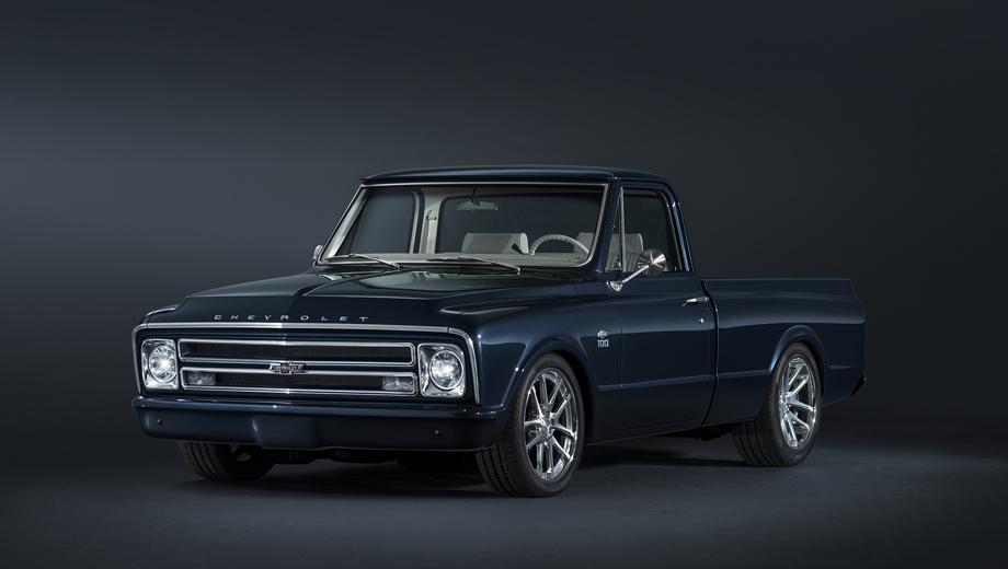 Chevrolet silverado,Chevrolet colorado,Chevrolet corvette,Chevrolet traverse,Chevrolet concept,Chevrolet suburban. Концепт C/10 украшает нестандартная «бабочка» Chevrolet с названием компании, выведенным историческим шрифтом.