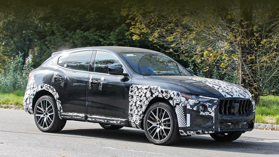 Maserati levante,Maserati levante gts. Перемены во внешности Levante GTS не бросаются в глаза. По сравнению с версией S в GTS увеличены воздухозаборники в переднем бампере. Плёнка на капоте намекает на вентиляционные прорези наверху.
