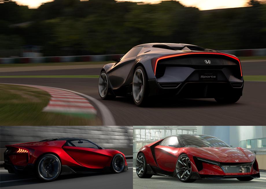 Хонда показала концепт-кар спортивного Vision Gran Turismo