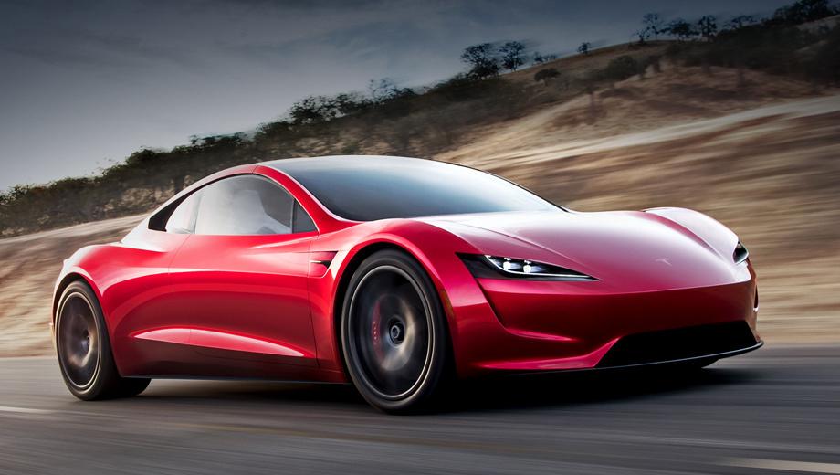 Tesla roadster,Tesla semi. При полностью заряженной батарее Tesla Roadster сможет преодолевать расстояние почти в 1000 км. Базовая цена электрокара ― $200 тысяч, а стоимость брони ― $50 тысяч.