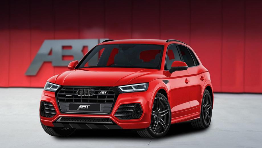 Audi sq5. В ближайшем будущем спецы бюро ABT предложат клиентам заниженное шасси с менее податливыми пружинами. С их установкой дорожный просвет спереди снизится на 30 мм, а сзади ― на 35 мм.