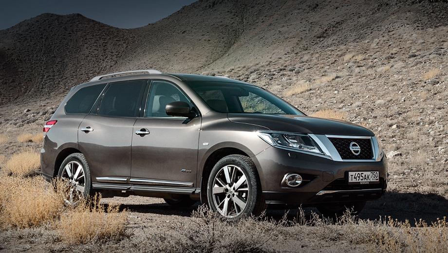 Nissan pathfinder,Nissan sentra. В Америке Pathfinder обновился летом прошлого года и наряду с перекроенной внешностью получил прибавку в 30 сил (теперь 288 л.с.). У нас модель выглядела по-старому, имела только 249 л.с. и цену от 2 755 000 рублей.