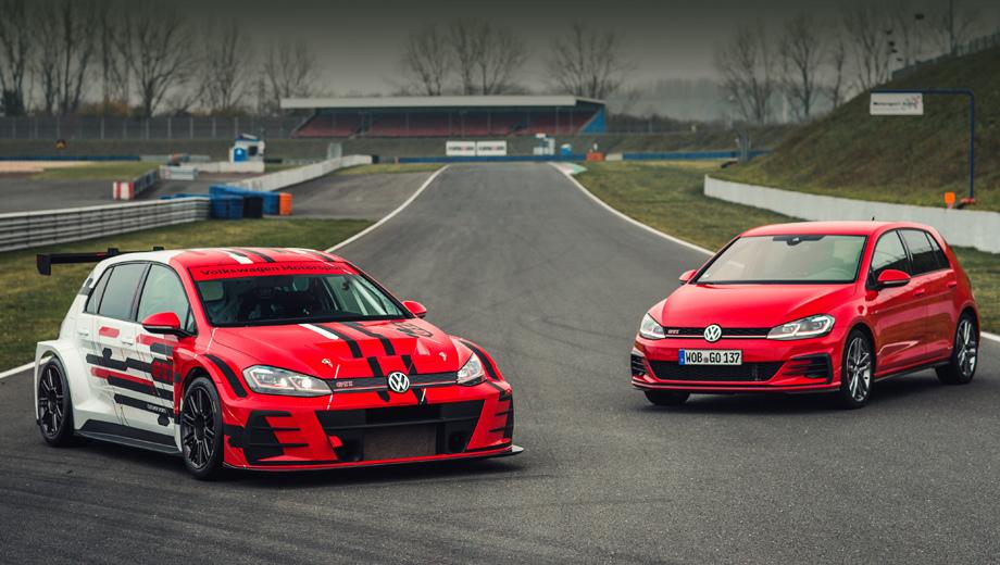 Volkswagen golf,Volkswagen golf gti,Volkswagen golf gti tcr. Гоночный GTI TCR после обновления подражает обликом гражданскому Гольфу GTI.