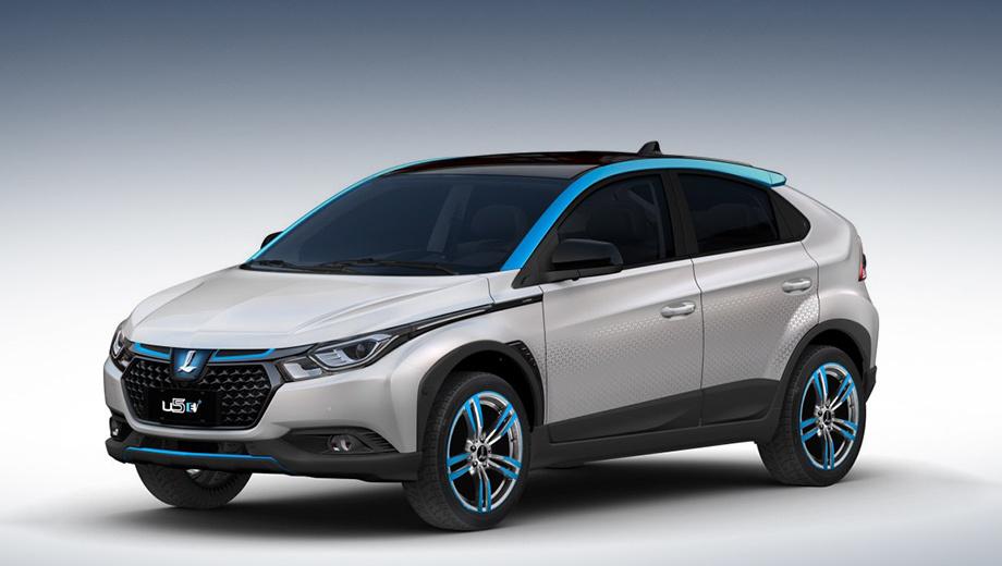 Luxgen u5,Luxgen u5 ev. В Азии электричество и «машины новой энергии» (NEV) традиционно ассоциируются с синим или голубым цветом. Наряду с яркими акцентами электрокар отличается аппликациями на дверях и новым дизайном колёсных дисков.
