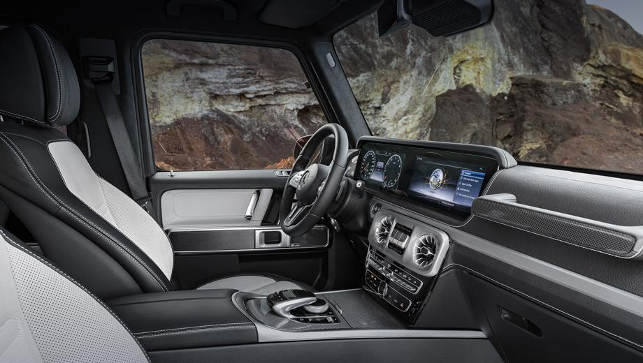 Mercedes g. Внедорожник дебютирует в январе на автосалоне в Детройте. Изнутри он воспринимается цельно и современнее прежнего. Форма остекления не изменилась. Дворники расположены по-прежнему.