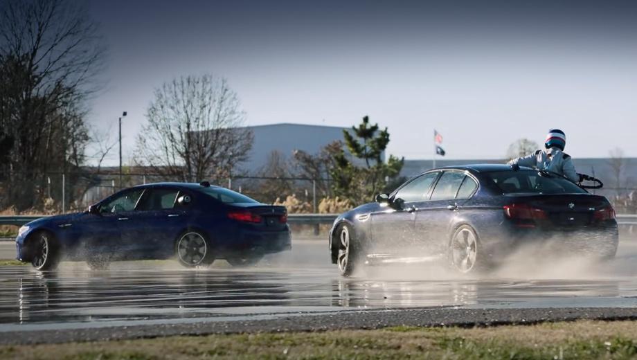 Bmw m5. Заезды проводились 11 декабря 2017 года на полигоне BMW Performance Center в Грире, штат Южная Каролина. А 9–12 января дрифтующую «эм-пятую» можно увидеть на выставке CES в Лас-Вегасе.