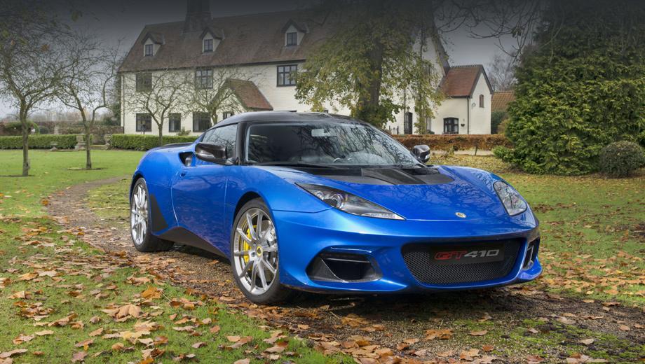 Lotus evora,Lotus evora gt410 sport. Углепластиковые лезвия в передних воздухозаборниках и новый алюминиевый диффузор сзади позволили улучшить аэродинамические показатели исходной Эворы.