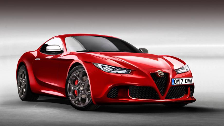 Alfaromeo 6c. Только дизайнеры Альфы представляют, как будет выглядеть новое купе, а нам пока остаётся довольствоваться иллюстрациями, придуманными сторонними художниками.