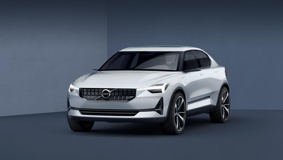 Volvo v40. В новом поколении V40, если судить по концепту, окажется лифтбеком с пологим задним стеклом и коротким хвостиком багажника. Это ставит под вопрос появление седана S40.