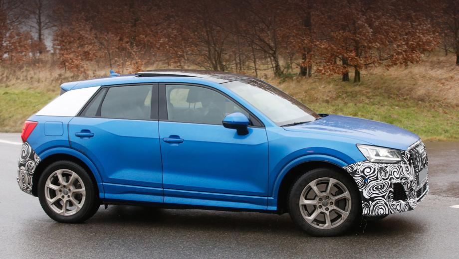 Audi q2,Audi sq2. По неофициальным данным, на этой версии стоит ожидать двухлитровую «турбочетвёрку» с отдачей в 310 сил и 400 Н•м.