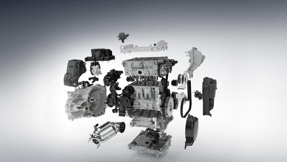 Volvo xc40. Новичок в семействе Drive-E построен по такому же модульному принципу, как и «четвёрки». Пока он агрегатируется только с шестиступенчатой «механикой», а с восьмидиапазонным «автоматом» подружится в 2019 году.