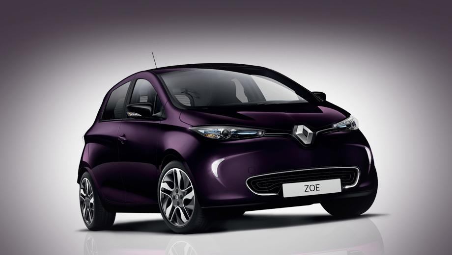 Renault zoe. Техническое обновление принесло с собой и новый цвет кузова Blueberry Purple, который можно заказать в топовой версии Zoe Intens. Эта внешняя окраска совмещена с фиолетовыми акцентами в интерьере (на приборной панели, туннеле, сиденьях).