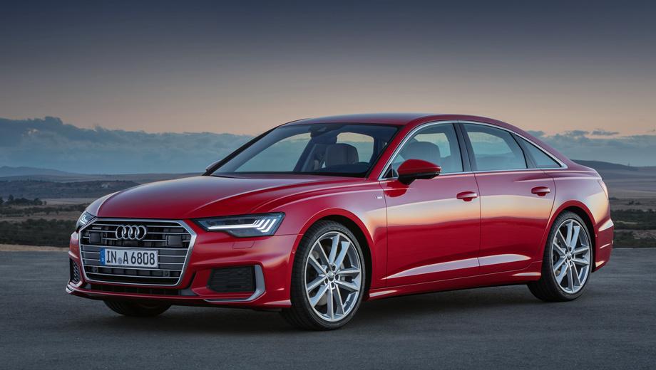 Audi a6. В европейской гамме Audi A6 помимо мощных модификаций ожидаются и те, что попроще. По неофициальным данным, седан получит 204-сильный двухлитровый турбодизель и дефорсированный V6 3.0 TDI с 230 силами. А ещё позже на рынок поступит базовое исполнение с агрегатом 2.0 TFSI.