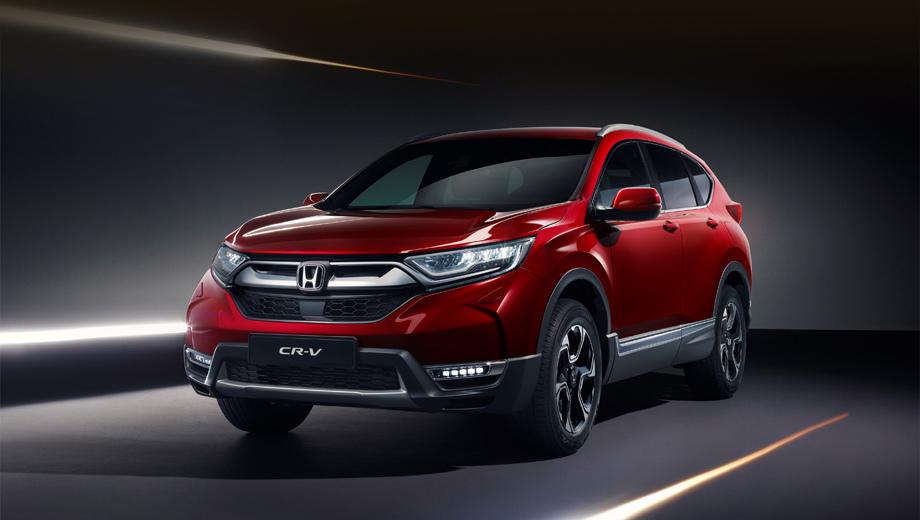 Honda cr-v. Никаких заметных визуальных перемен по сравнению с предсерийной версией тут не видно.