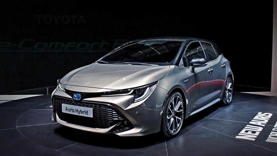Toyota auris. Toyota Auris на платформе TNGA обещает нам облегчённый и более крепкий кузов из высокопрочных сортов стали и зажигательную управляемость вкупе с мощной гибридной установкой. Такое сочетание должно привлечь новых покупателей. Кстати, на данный момент в Европе реализовано 1,5 млн гибридов Toyota.